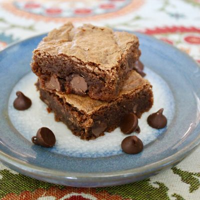 Double Chocolate Almond Brownies (Gluten Free)