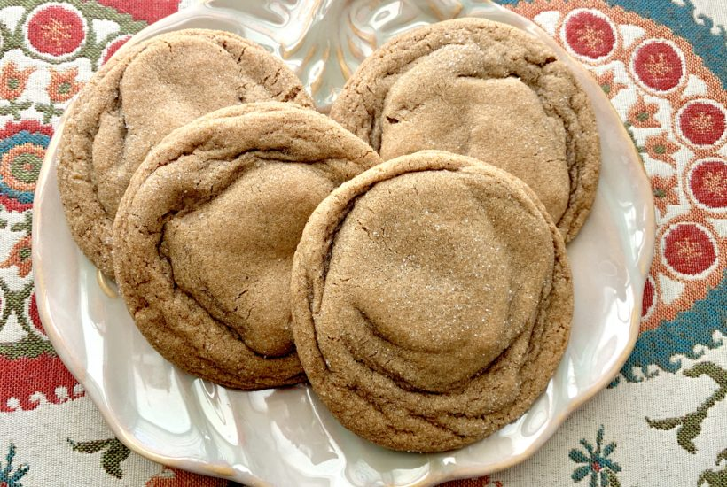 Giant Ginger Spice Cookies