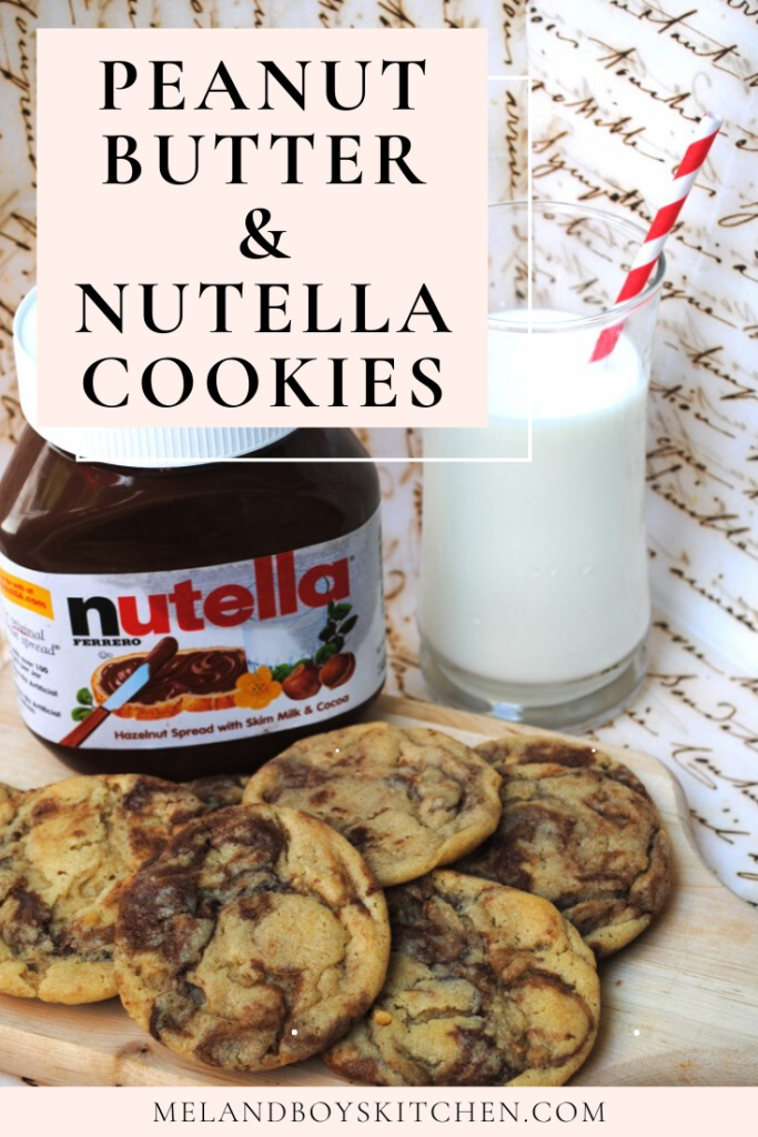 Peanut Butter Nutella Cookies Mel And Boys Kitchen
